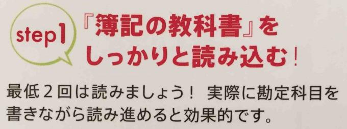 簿記2級独学道場簿記の教科書Step1