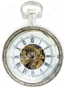mechanical-clock-cover-white-isolated