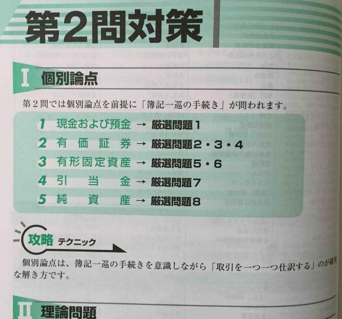 日商簿記2級過去問題集 第2問対策