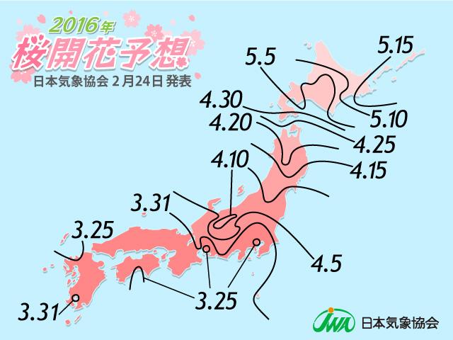 桜開花予想