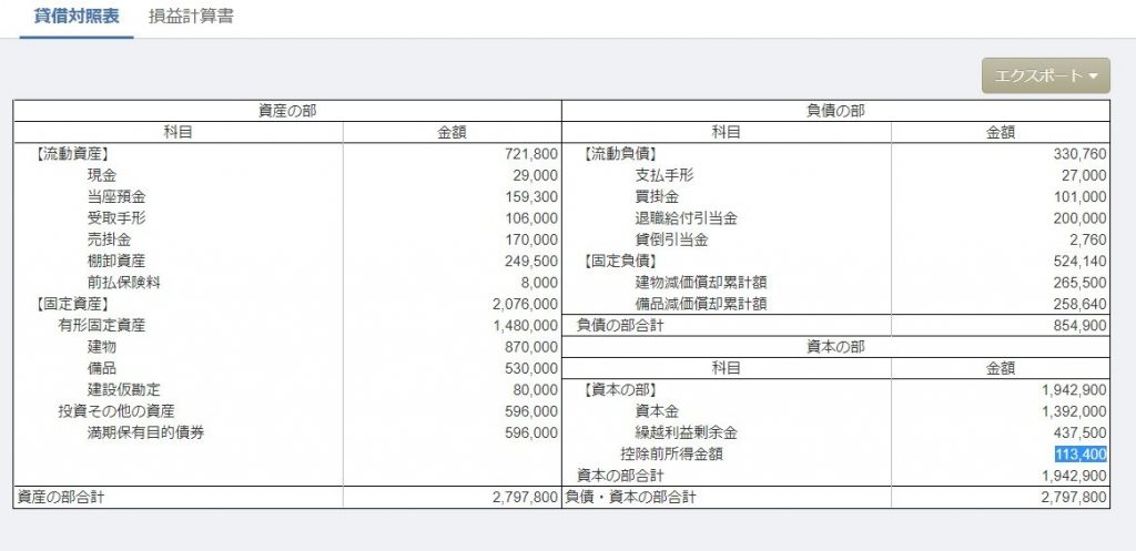 146日商2級第3問貸借対照表